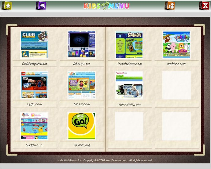 Kids Web Menu