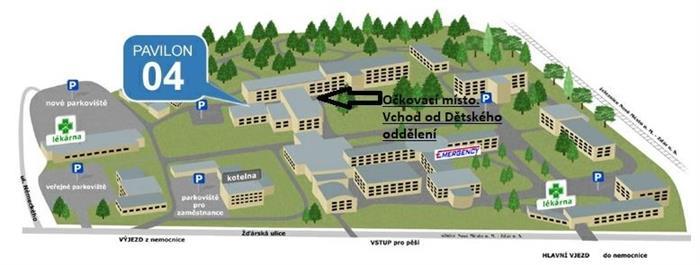 Očkovací centrum - nemocnice Nové Město na Moravě