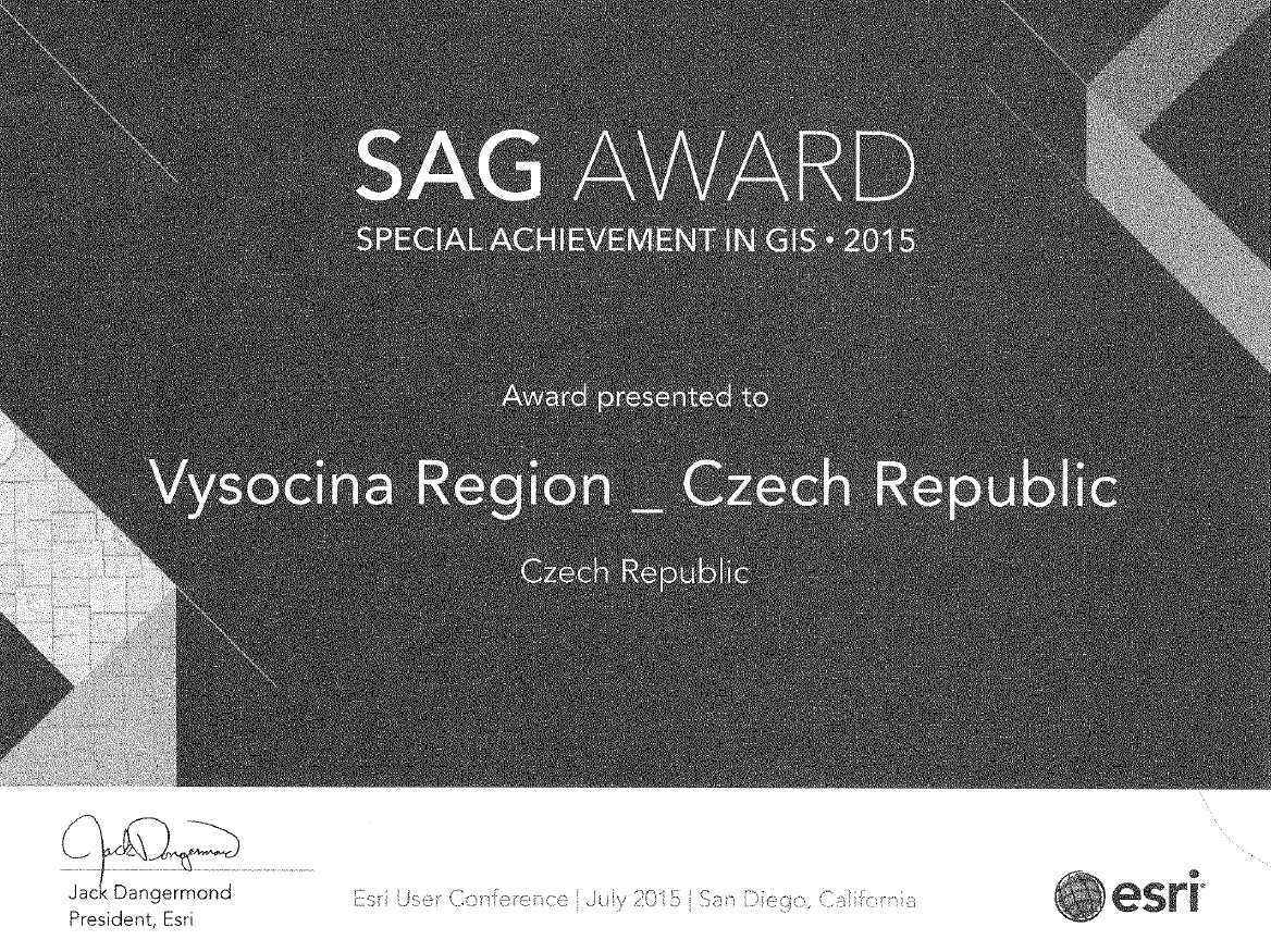 SAG AWARD - SPECIAL ACHIEVEMENT IN GIS 2015